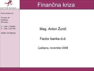 Finančna kriza