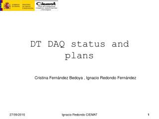 DT DAQ status and plans