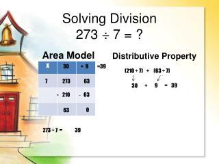 Solving  Division 273 ���7  = ?
