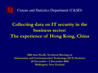 Collecting data on IT security in the business sector: