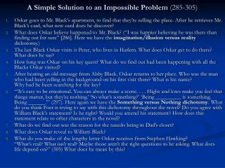 A Simple Solution to an Impossible Problem  (285-305)