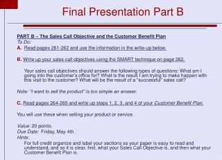 Final Presentation Part B