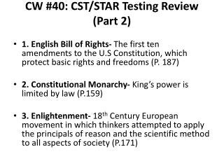 CW #40: CST/STAR Testing Review (Part 2)