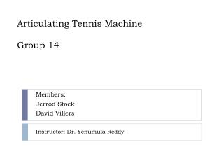 Articulating  Tennis Machine Group 14