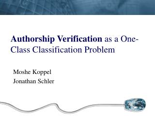 Authorship Verification  as a One-Class Classification Problem
