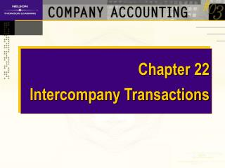Chapter 22 Intercompany Transactions