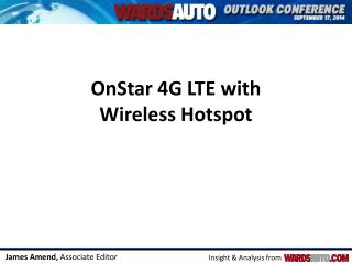 OnStar 4G LTE with  Wireless Hotspot