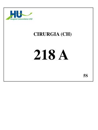 CIRURGIA (CH)  218 A