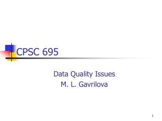 CPSC 695