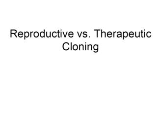 Nuclear reprogramming of cloned embryos and its implications for therapeutic cloning
