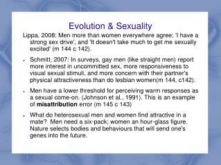 Evolution & Sexuality