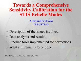 2005 HST Calibration Workshop – 26 October 2005