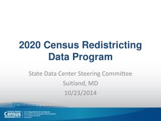 2020 Census Redistricting Data Program