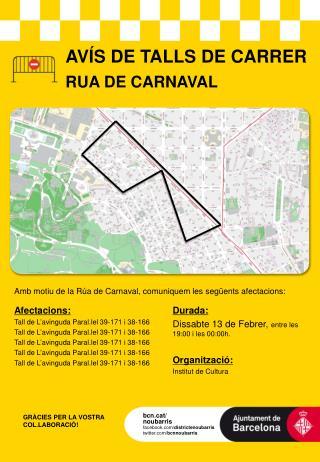 AVÍS DE TALLS  DE CARRER