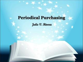 Periodical Purchasing