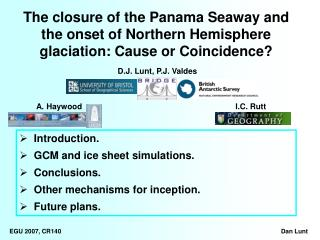 Introduction.   GCM and ice sheet simulations.   Conclusions.   Other mechanisms for inception.