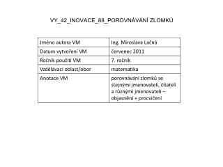 VY_42_INOVACE_88_POROVNÁVÁNÍ ZLOMKŮ