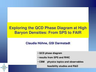 Exploring the QCD Phase Diagram at High Baryon Densities: From SPS to FAIR