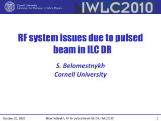 RF system issues due to pulsed beam in ILC DR