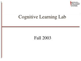Cognitive Learning Lab