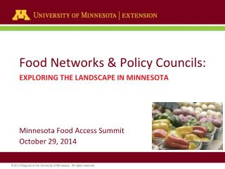 Food Networks & Policy Councils: