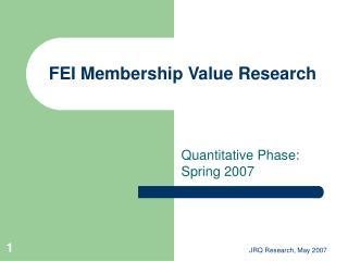 FEI Membership Value Research
