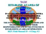 TASK ESTABLISH  AN AREA OF OPERATION
