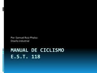 Manual de ciclismo  E.S.T. 118
