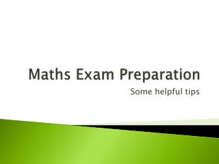 Maths Exam Preparation