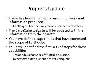 Progress Update