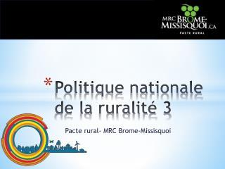 Politique nationale de la ruralité 3
