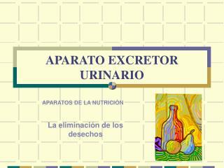 APARATO EXCRETOR URINARIO