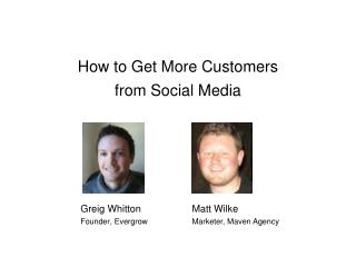 How to Get More Customers from Social Media