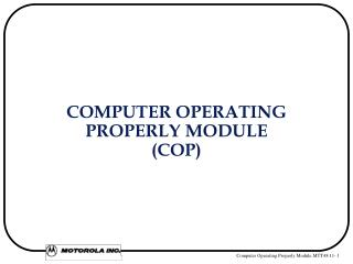COMPUTER OPERATING  PROPERLY MODULE  (COP)