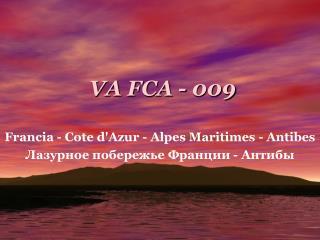 VA FCA - 009