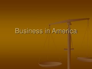 Business in America