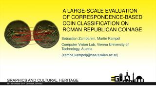 A Large-Scale Evaluation of Correspondence-Based  Coin Classification  on Roman Republican Coinage