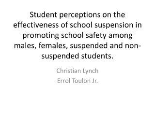 Christian Lynch Errol Toulon Jr.