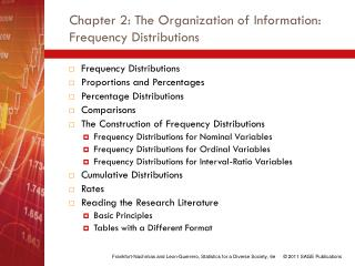Chapter 2: The Organization of Information: Frequency Distributions