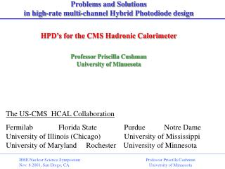 Problems and Solutions  in high-rate multi-channel Hybrid Photodiode design
