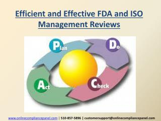 Efficient and Effective FDA and ISO Management Reviews
