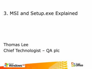 3. MSI and Setup.exe Explained