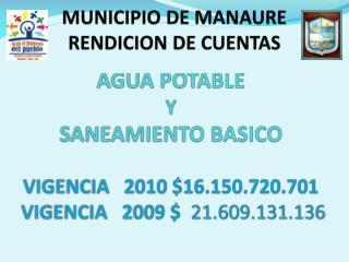 MUNICIPIO DE MANAURE RENDICION DE CUENTAS
