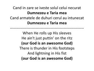 072 - Dumnezeu e Taria mea