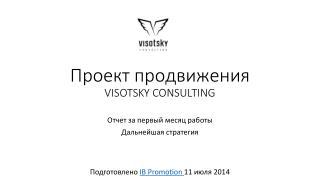 Проект  продвижения VISOTSKY CONSULTING