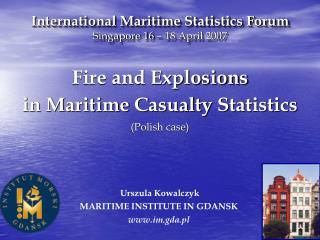International Maritime Statistics Forum Singapore 16   18 April 2007
