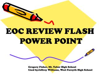 EOC REVIEW FLASH  POWER POINT