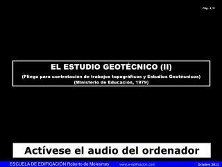 ESCUELA DE EDIFICACIÓN Roberto de Molesmes       e-edificacion            Octubre 2011