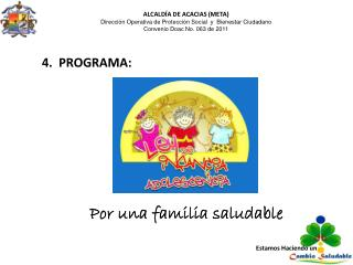 ALCALDÍA DE ACACIAS (META) Dirección  Operativa de Protección Social   y   Bienestar  Ciudadano