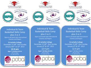 Individual & Team Basketball  Skills Camp  plus 3  vs  3